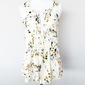 Sanctuary Sleeveless Floral Blouse